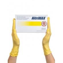 Перчатки NitriMAX нитриловые желтые смотровые (50пар)