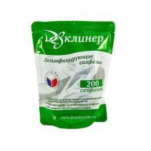 Салфетки дезинфицирующие ДезКлинер (сменный блок-200 шт)