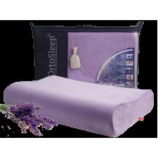 Подушка анатомическая OrtoSleep Classic M «Lavanda» с регулировкой высоты с ароматным лавандовым саше.