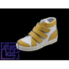 Ботинки белый-желтый/14215