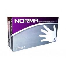 Перчатки одноразовые нитриловые, текстура на пальцах, NORMA (50 пар) сиреневые 10 упаковок