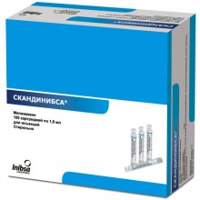 Скандинибса (Мепивакаин) 1,8 мл (10 карп.)