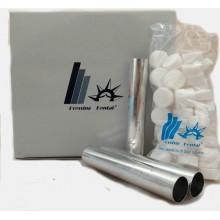 Гильзы алюминиевые 22 мм диаметр, упаковка 60 штук, с тефлоновыми заглушками 60 шт.