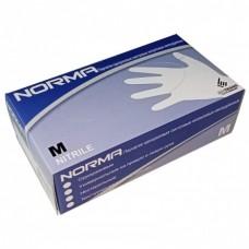 Перчатки одноразовые нитриловые, текстура на пальцах, NORMA (50 пар) голубые 10 упаковок